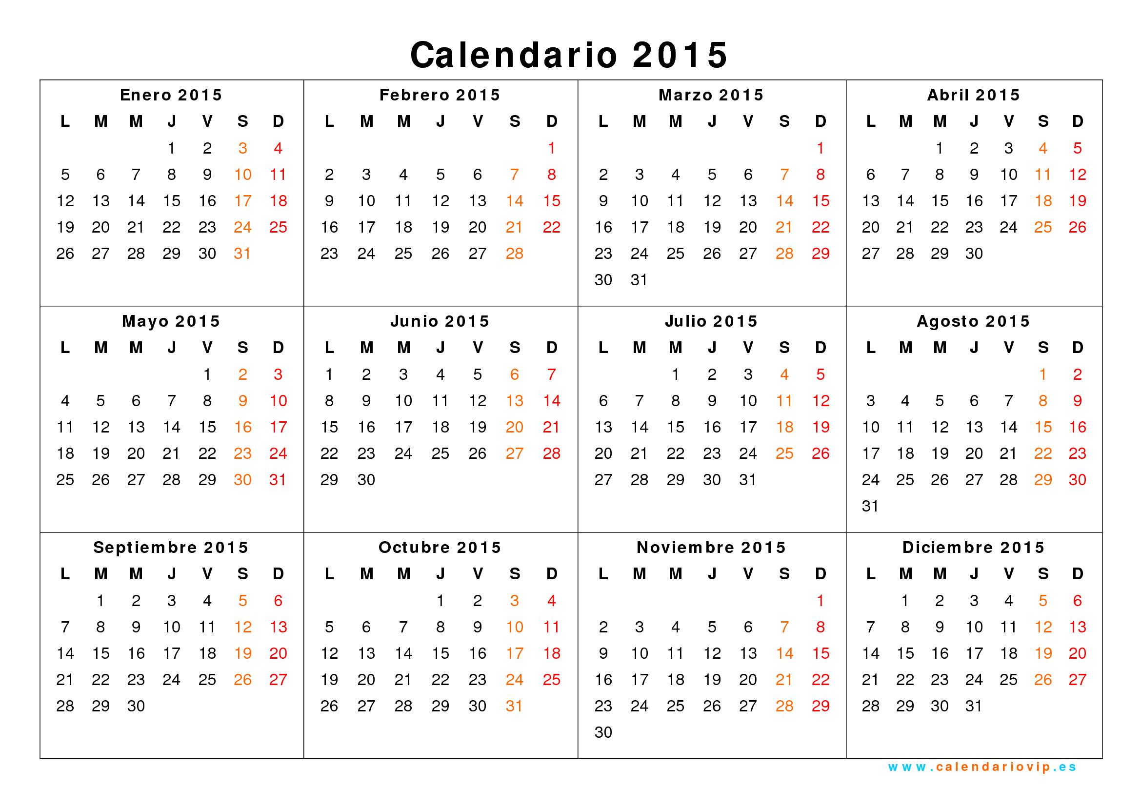 calendario 2015 y 2018 para imprimir - Boat.jeremyeaton.co